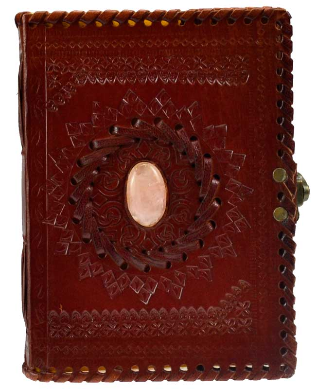 Stone Embossed Blank Leather Journal