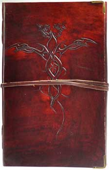 Entwined Dragons Leather Blank Book