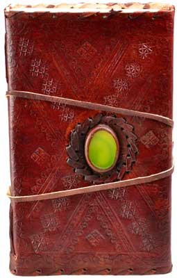 God's Eye Blank Leather Book