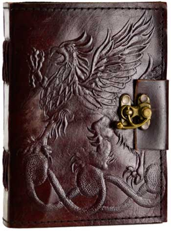 Gryphon Leather Blank Book