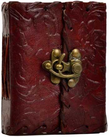 Flower Leather w/latch