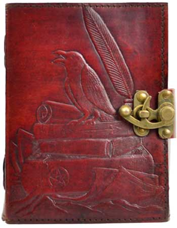 Raven Blank Leather Book w/Latch