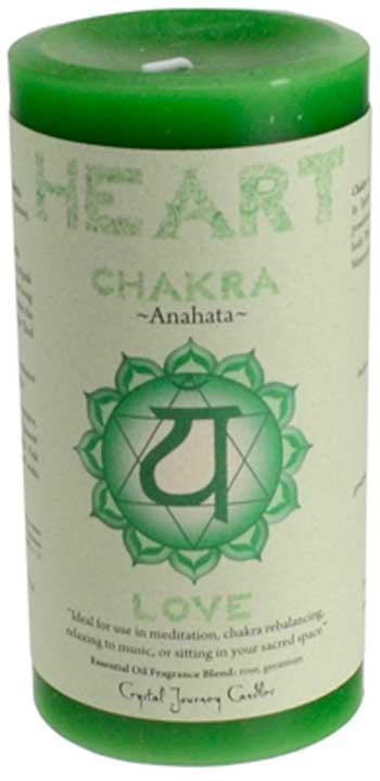 Heart Chakra pillar candle 3