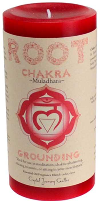Root Chakra pillar candle 3