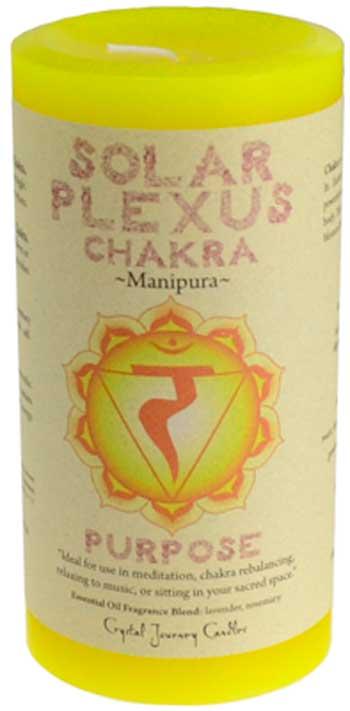 Solar Plexus Chakra pillar candle 3