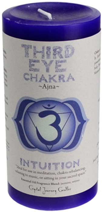 "Third Eye Chakra pillar candle 3"" x 6"""