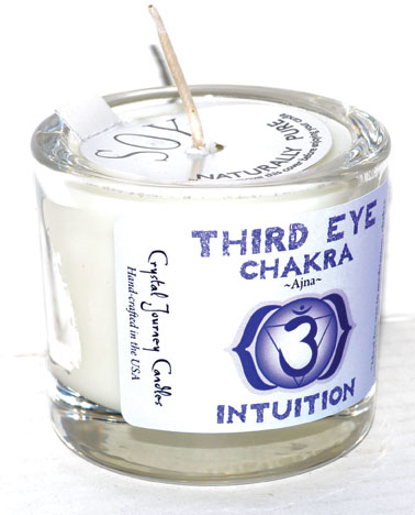 Third Eye chakra soy votive candle