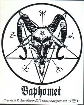Baphomet bumper sticker