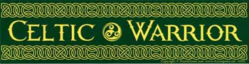 Celtic Warrior bumper sticker