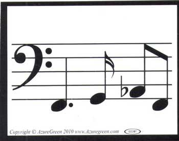 Music Line bumper sticker