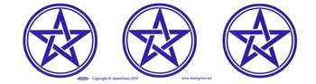 Three Pentagrams Bumper Sticker