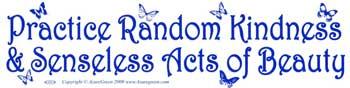 Practice Random Kindness & Senseless Acts of Beauty bumper sticker