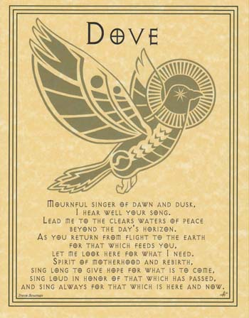 DOVE PRAYER - POSTER Wicca Pagan Witch Witchcraft Goth BOOK OF SHADOWS ...