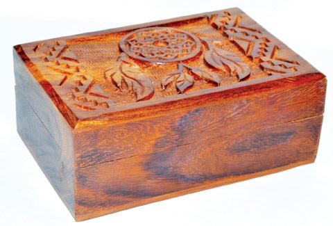 "4"" x 6"" Dream Catcher wood Box"