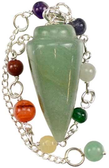 Green Adventurine 7 Chakra pendulum