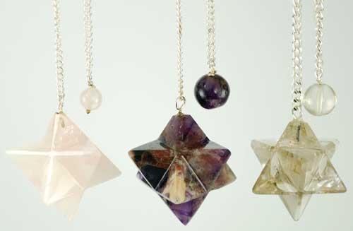 Assorted Gemstone Flower Pendulum