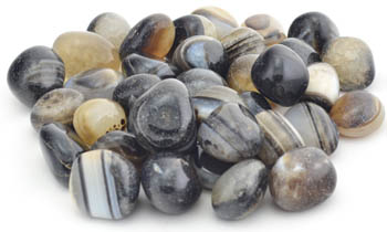 1 Lb Banded Onyx tumbled stones