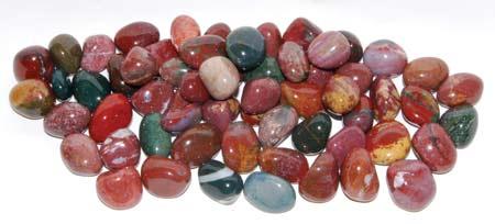 1 Lb Jasper Fancy tumbled stones