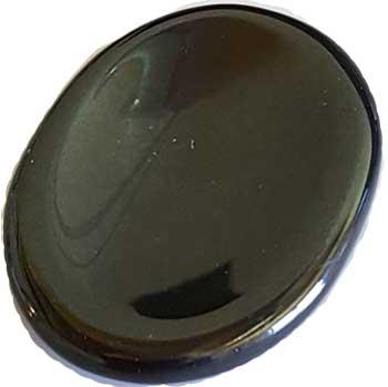 Black Agate worry stone