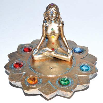 """3"""" Goddess 7 Chakra burner"""