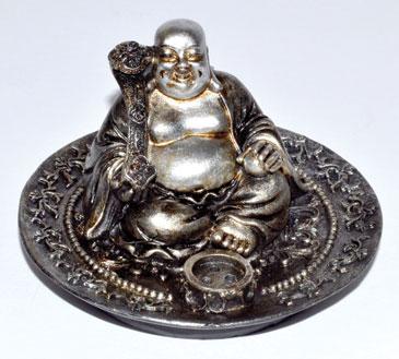 "2"" Happy Buddha burner (set of 3)"