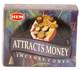 Attracts Money HEM cone 10 pack