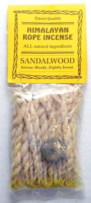 Sandalwood Tibetan rope incense 20 ropes