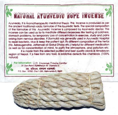 Ayurvedic Tibetan rope incense 80 ropes