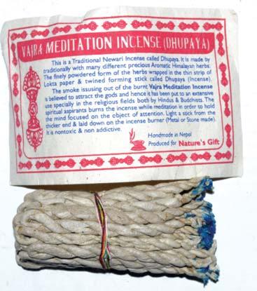 Vajra Meditation Tibetan rope incense 35 ropes