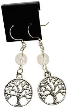 Quartz Tree of Life earrings