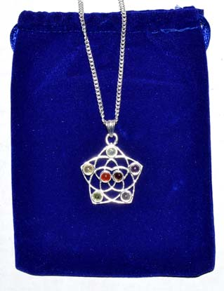"""1 1/4"""" Seed of Life Chakra with pouch"""