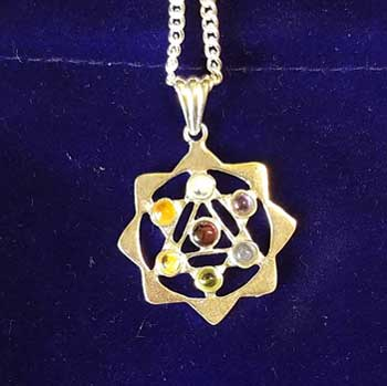 """1 1/8"""" Yantra Chakra with pouch"""