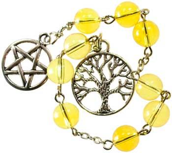 Citrine prayer beads