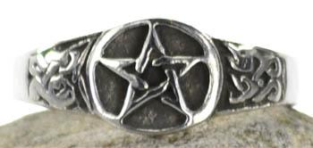 Pewter Pentagram ring size 9