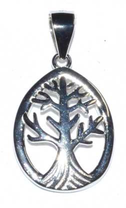 "5/8"" Tree of Lif sterling pendant"