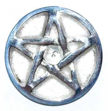 "Pentagram altar Coin 1 1/4"""