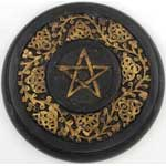 Wooden Pentagram altar tile 9