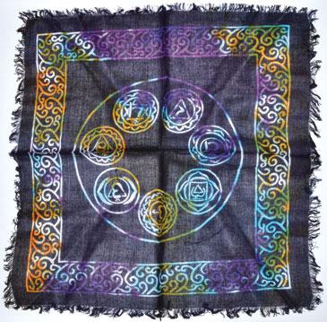 """18""""x18"""" 7 Chakra altar cloth"""