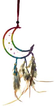 "3"" Crescent Moon dream catcher"