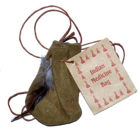 """3"""" Medicine Dream bag Olive Green"""