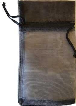 "3"" x 4"" Black organza pouch"
