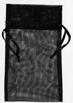 "4"" x 5"" Black organza pouch"