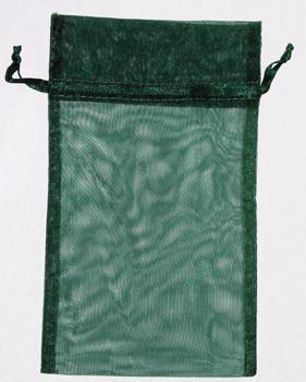 "4"" x 5"" Green organza pouch"