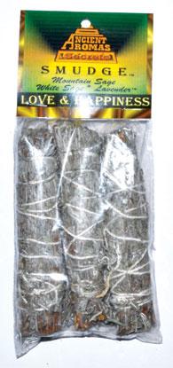 Love & Happiness smudge stick 3pk 4