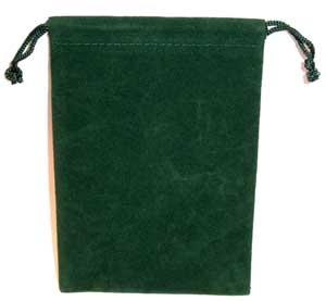 Green Velveteen Bag