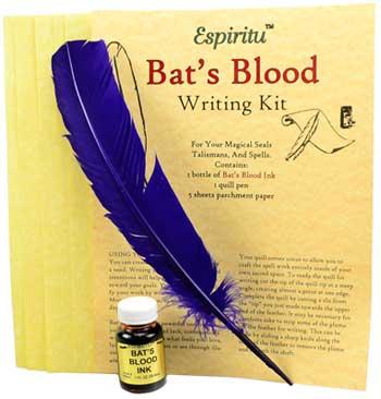 Bats Blood Writing Kit, AzureGreen
