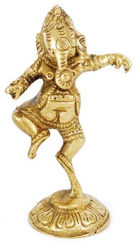 """Brass Ganesh Shrine 3 1/2"""""""
