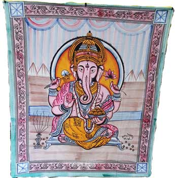 "84"" x 96"" Ganesh tapestry"