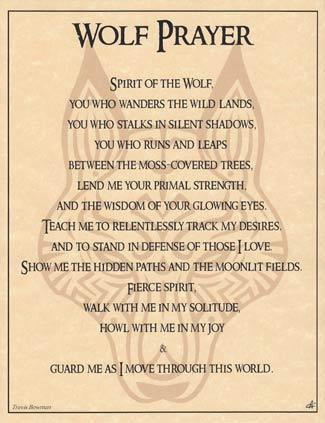 Wolf Prayer Poster