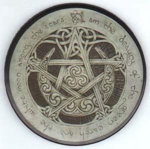 Large Moon Pentagram Magnet
